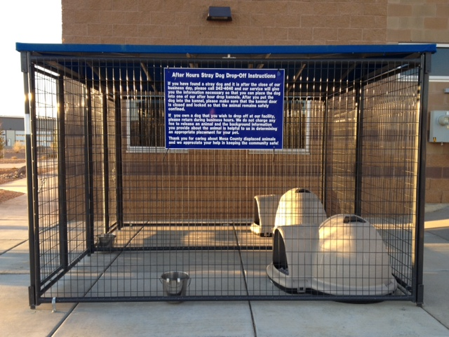 After Hours Drop Off Kennel Front View