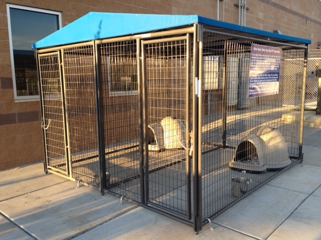 After Hours Drop Off Kennel Side View